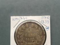Monede 5 franci 1839,41,42