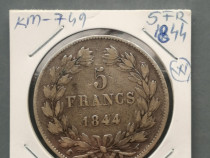 Monede 5 franci 1844,67,74,75, 76