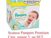 Scutece Pampers Premium Care, numar 5, un SET, 136 BUC