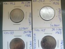 Monede 10,50 lire Vatican, ani diferiți