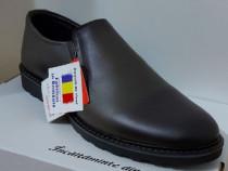 Pantofi barbati model corsa gri piele naturala 100%