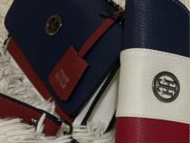 Set geanta si portofel Tommy Hilfiger