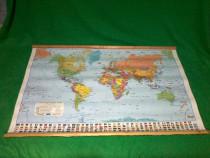 Harta politica a lumii 70 x 48 cm