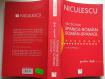 Dictionar roman-spaniol, spaniol-roman editura Niculescu