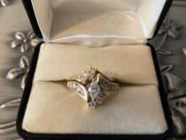 Inel aur galben 14k cu diamante facute in laborator