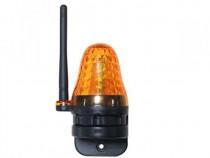 Lampa avertizare LED cu antena automatizare poarta porti usa