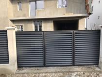 Gard jaluzele tabla poarta metalica