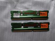 Memorie 2 x 256MB DDR1 500MHz Kingmax Hard Core - desktop
