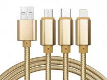 Cablu De Date 3 In 1 Iphone 5/6 + Micro Usb + Type C C209