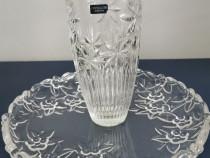 Set vaza+fructiera cristal