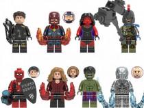 Set 8 Minifigurine tip Lego Marvel cu Hulk si Spider-man