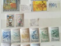 Serii timbre nestampilate România 1991