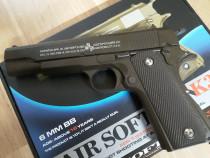 Pistol airsoft/tir, metalic, spring, Colt k32-1911, NOU
