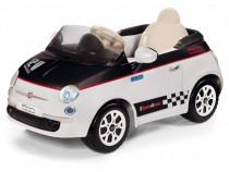 Masina Electrica Copii Oe Fiat 500 Alb / Negru 50907832