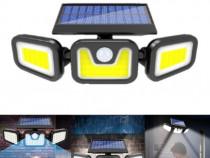 Lampa solara tripla cu senzor de miscare