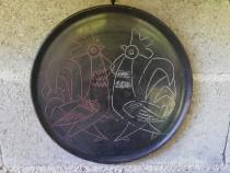Ornament vechi ceramica neagra