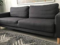 Canapea 3 persoane, culoare gri închis
