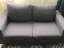 Canapea 2 persoane, culoare gri închis