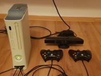 Xbox 360 Slim Modat 250 Gb cu 36 de jocuri si Kinnect