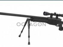Replica sniper CyberGun Mauser SR+lunetă 4-16x40AOE iluminat