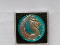 Monedă colecti de argint limitata la 100 buc,relief ridicat