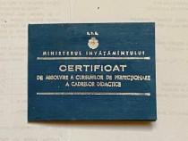 Certificat absolvire cursurilor perfectionare cadrelor..1957