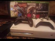 Xbox one 500 GB - 2 controllere + jocuri