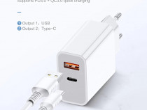 Incarcator Fast Charger 18W si Cablu Type / Lightening - Iph