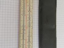 Rigla veche de calcul A-1 de buzunar Tehnolemn, anii 60