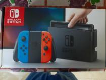 Nintendo switch + 2 jocuri + gamepad