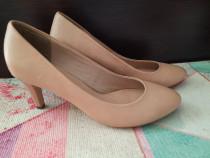 Pantofi din imitatie de piele, nude, mas 39