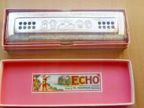 C657-I-Muzicuta mare dubla veche ECHO HOHNER GLOCKENREINE.