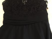 Rochie lunga neagra voal , L