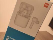 Casti wireless Xiaomi, albe, noi, sigilate