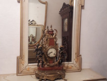 Oglinda pictata,vintage shabby baroc venetian,lemn