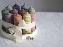Lumanari colorate din ceara de albine