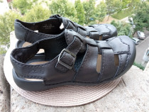Sandale piele Clarks, mar 43, UK 9G (27.5 cm) made in Vietna