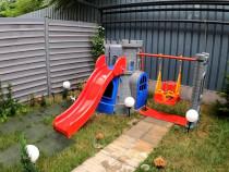 Centru joaca Pilsan Castle Slide and Swing Set grey