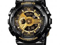Ceas sport DAMA Casio g-shock BABY-G black&gold (COPIL)