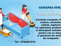 Curățare la domiciliu canapele, fotolii, mochete, saltele