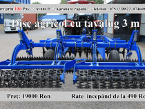 Disc agricol tractat cu tavalug si lama 3m nou