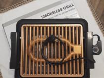 Gratar electric Livingtone Smokeless/TiCerama Grill-1000W