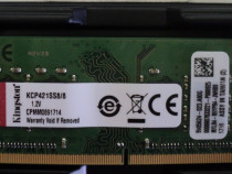 Memorie Ram Laptop Kingston DDR4 8Gb (1x8Gb) 2400Mhz KCP42SS
