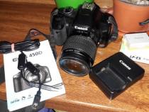 Canon EOS 450D, 12.2MP + Obiectiv EF 18-55mm IS