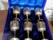 Set 6 pahare argintate