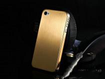 Husa aluminiu finisat,IPHONE 4 / 4S, catifea la interior