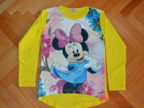 Bluza galbena Minnie Mouse, material elastic,diferite marimi