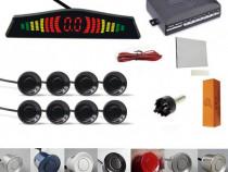 Senzori parcare afisaj display LED slim fata spate set kit