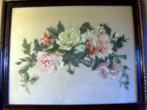 Trandafiri, tablou din deceniul 3 sau 4 al secolului trecut