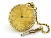 Ceas de buzunar aur18k englezesc cu cheie anul 1880 reducere